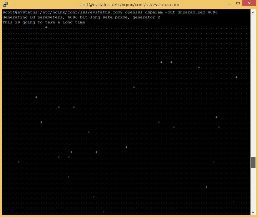 Generating DH parameters
