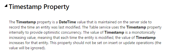 Timestamp Property