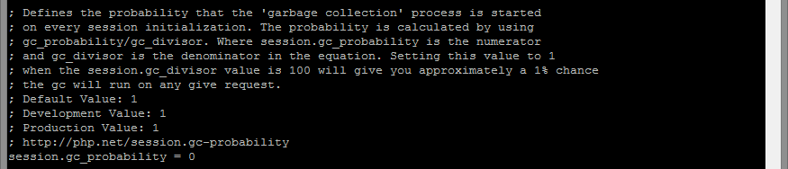 Garbage collection disabled