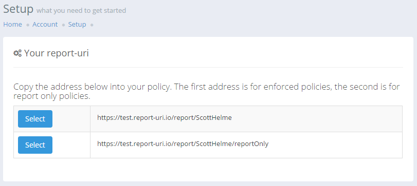report only address