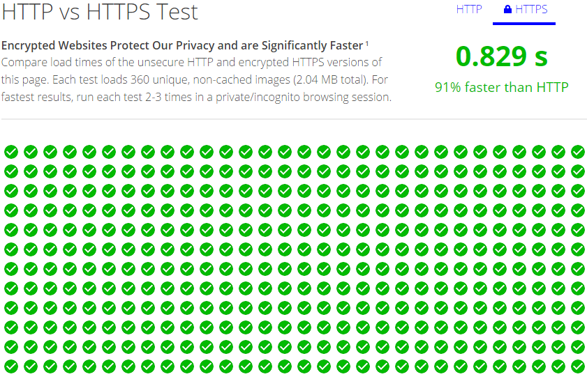 http vs https results