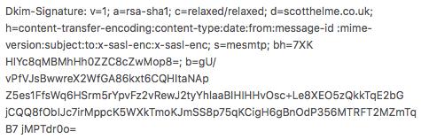 DKIM Signature Header