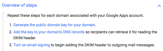 google dkim overview