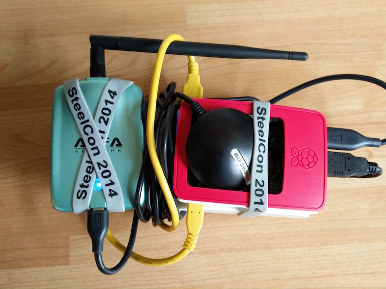 mobile wardrive setup with battery