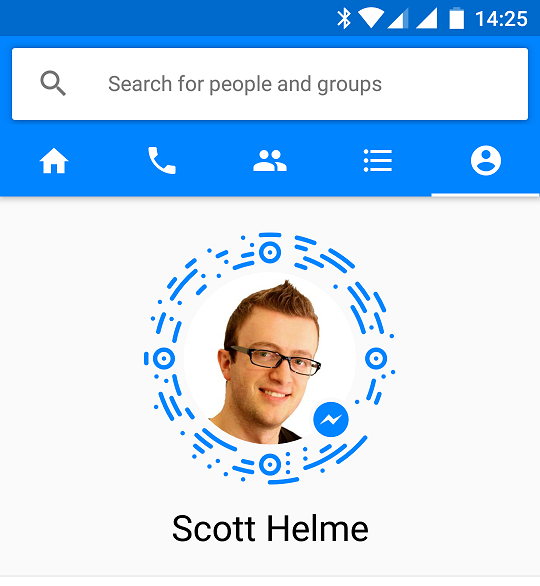messenger app profile page