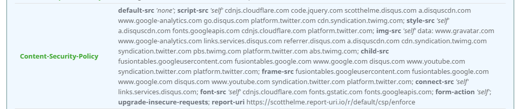 csp syntax highlighting