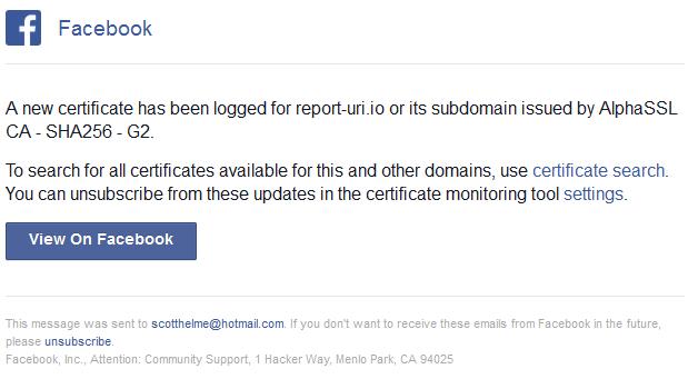 report-uri ct notification