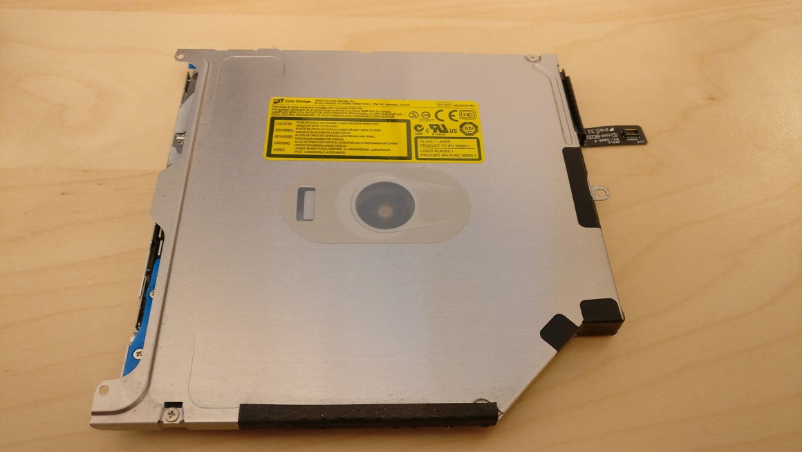 removed optical drive top