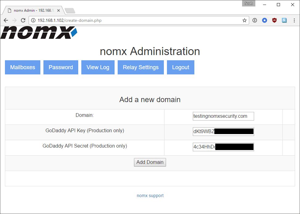new domain details