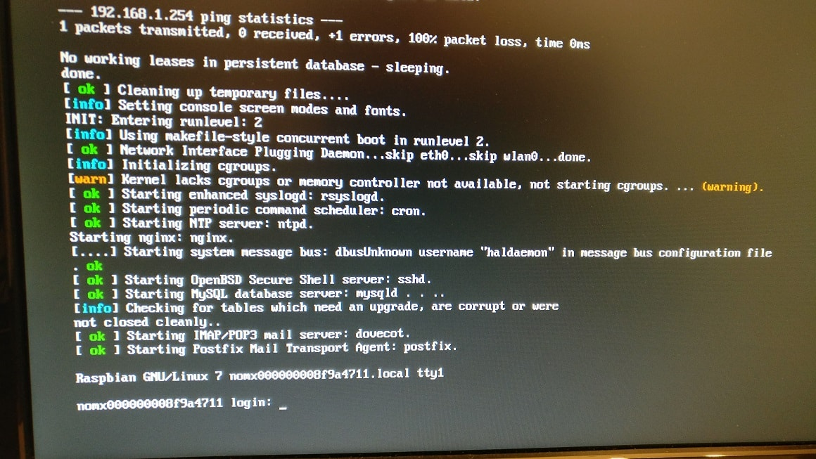pi booting up