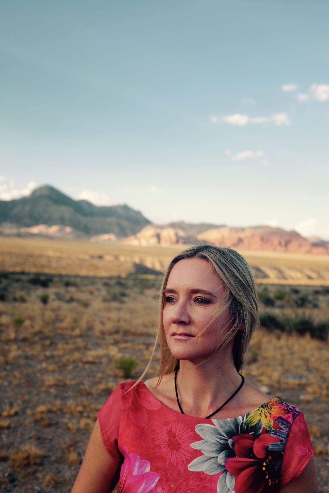 Kate in the desert