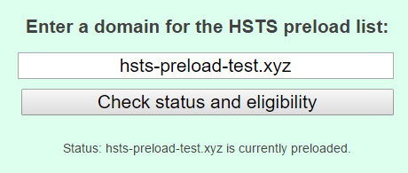 Testing the HSTS preload process