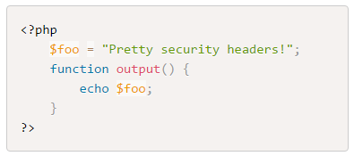 Adding security headers to Prism JS
