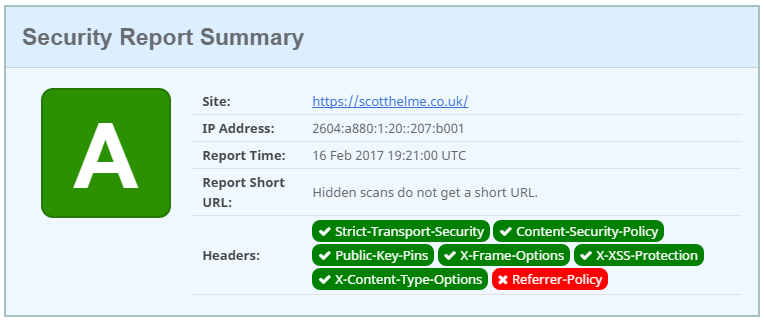 A new security header: Referrer Policy