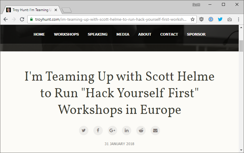 Delivering Hack Yourself First and finding real issues whilst training