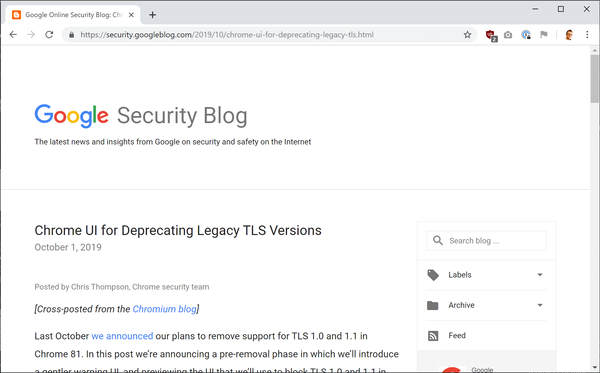 Big HTTPS changes coming in Chrome